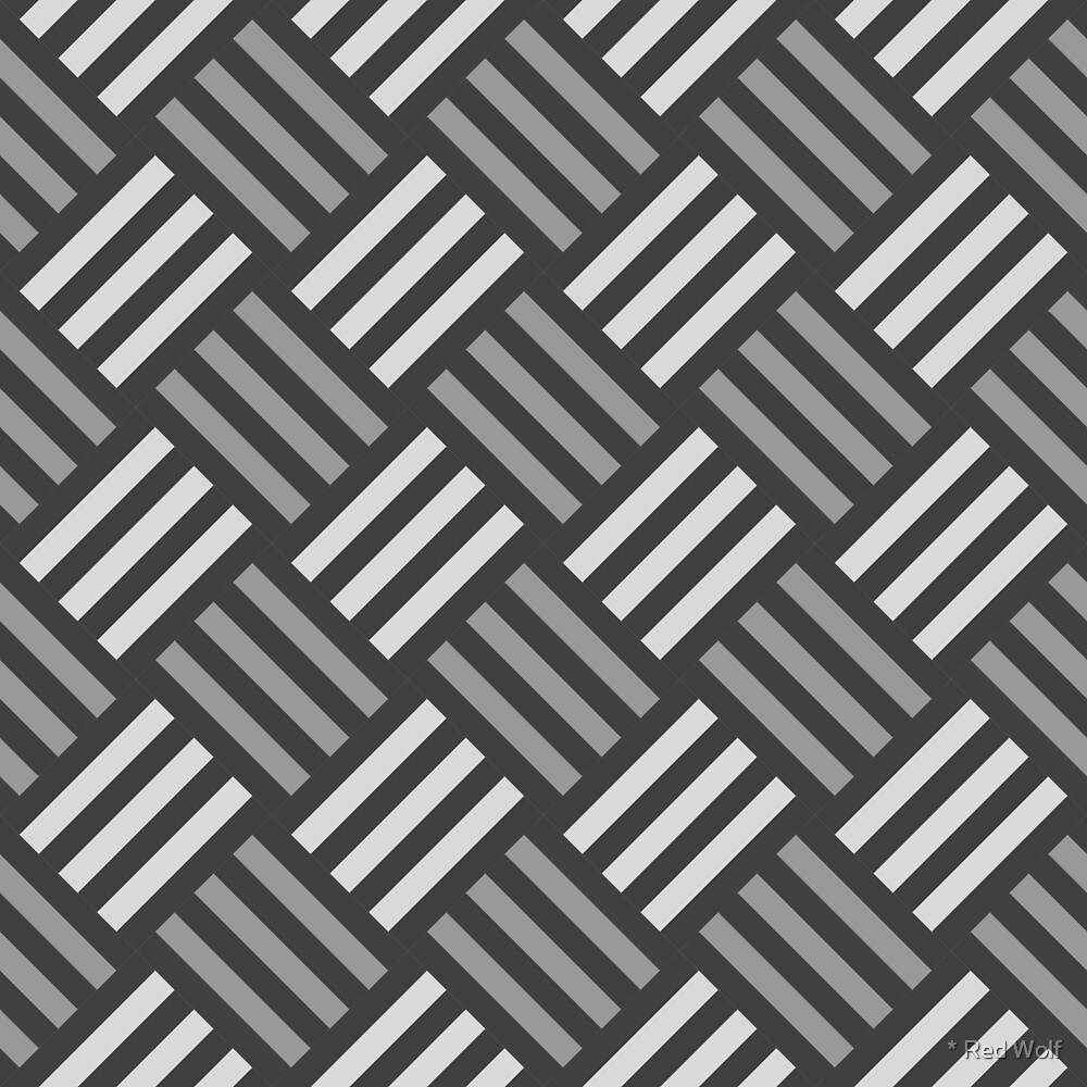 Geometric Pattern: Weave: Monochrome by * Red Wolf