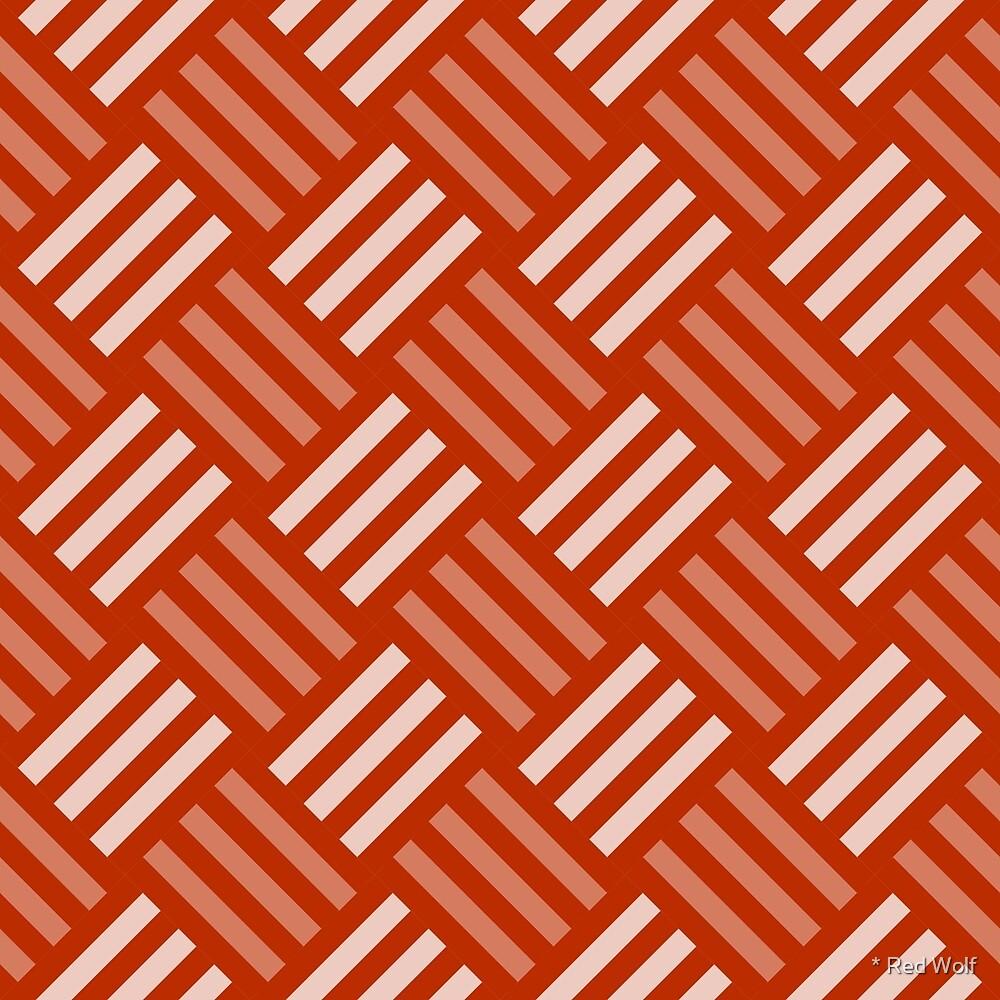 Geometric Pattern: Weave: Orange by * Red Wolf
