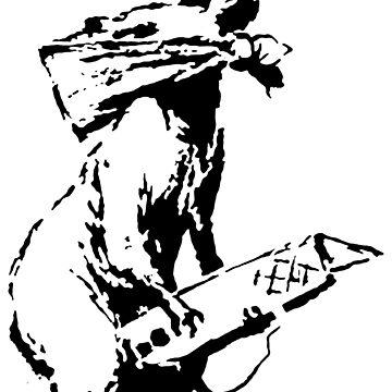 Banksy - Riot Rat by streetartfans
