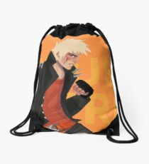 Explosion Hero Fashion shoot  Drawstring Bag