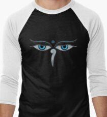 Wisdom Eyes of Buddha Men's Baseball ¾ T-Shirt