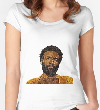 Abstract Childish Gambino Fitted Scoop T-Shirt
