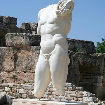 Collosal Torso of Naked Male God in Hadrian Bath of Aphrodisias by taiche