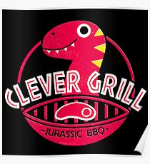 Clever Grill Jurassic BBQ Poster