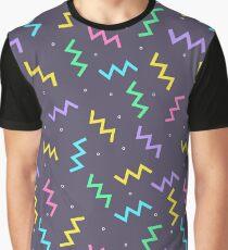Electric Zig Zag Pattern Graphic T-Shirt