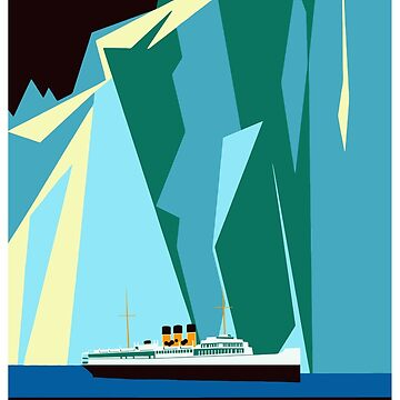 Alaska Taku Glacier retro vintage cruise travel by aapshop