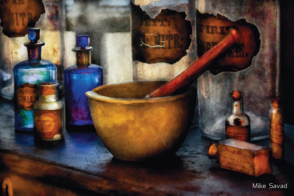 Pharmacist - Mortar and Pestle by Michael Savad