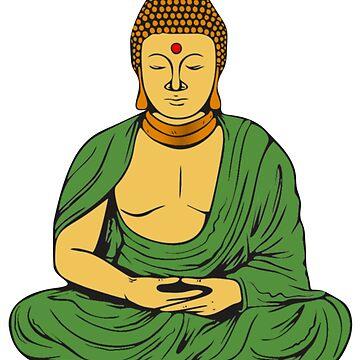 Peaceful Buddhist Monk  by headpossum