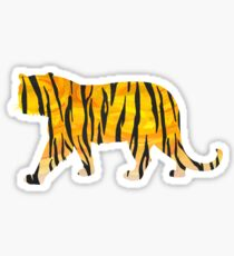 Tiger Black and Orange Print Sticker
