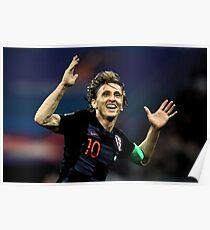 Luka Modric | Croatia | Russia 2018 Poster