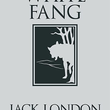 White Fang Jack London book cover by aapshop