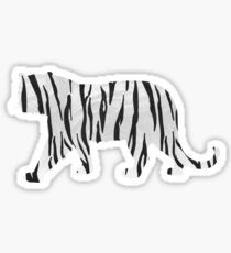 Tiger Black and White Print Sticker