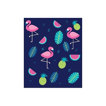 Pink Flamingo Pineapples and watermelon by clintoss