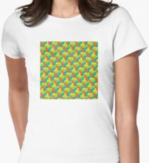 City of colorful blocks Women's Fitted T-Shirt