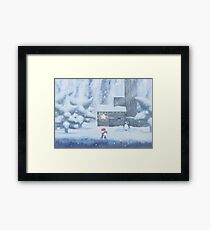 Lil Penguin Lost  Framed Print