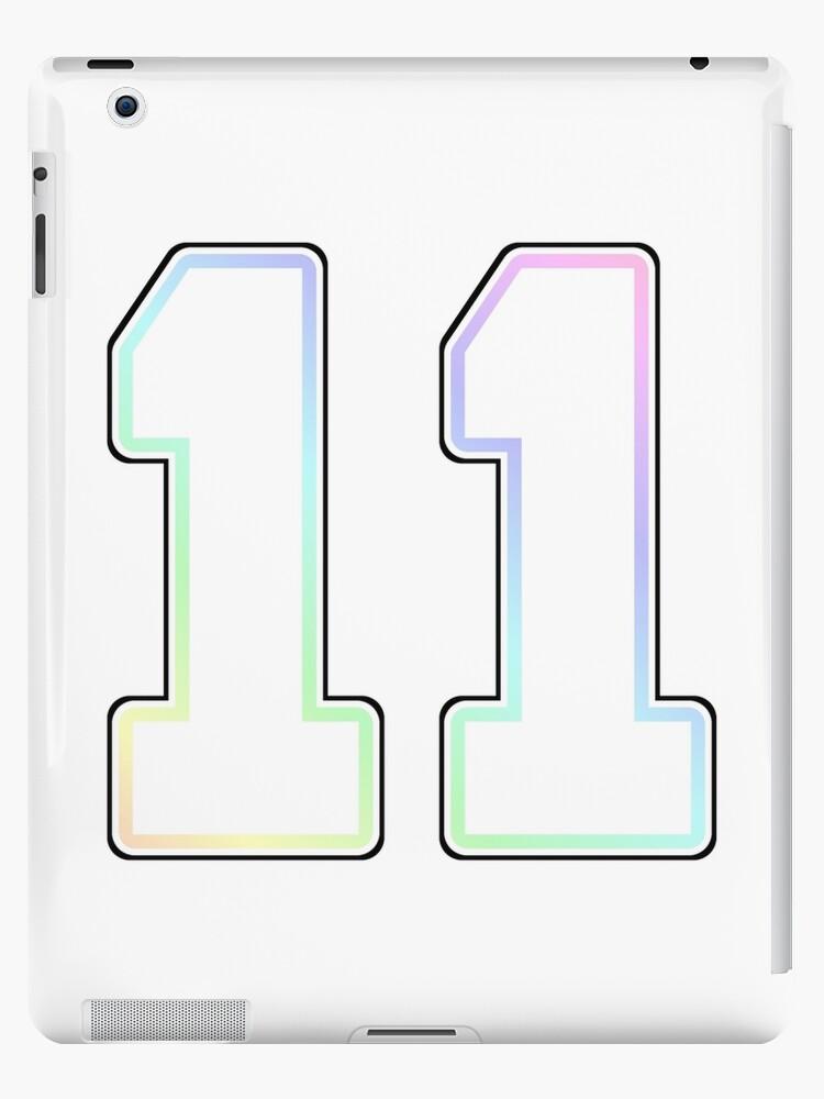 Number eleven 11 11th b-day birthday gifts rainbow Sticker