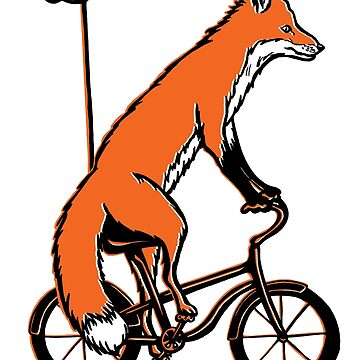 Fox on bike by amelielegault