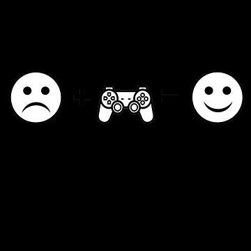 Sad Face Gaming Smiley Face by PrintPress