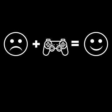Sad Face Gaming Smiley Face by PrintPress