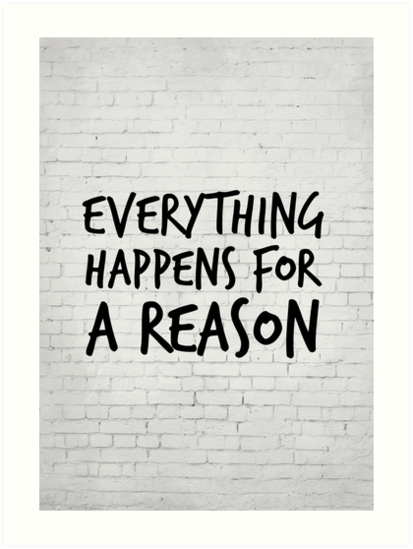 Everything Happens For A Reason Marilyn Monroe Quote Art Prints
