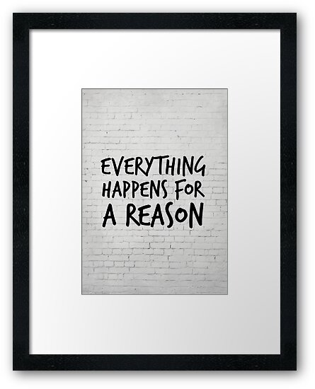 Everything Happens For A Reason Marilyn Monroe Quote Framed