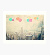 Lámina artística Balloons Over the City