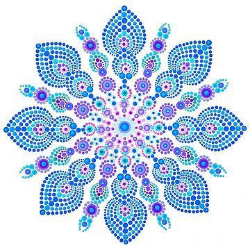 Light Blue Snow Flake Mandala - Art&Deco By Natasha by ArtDecoNatasha