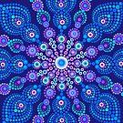 Light Blue Snow Flake Mandala - Art&Deco By Natasha by ArtDecoNatasha