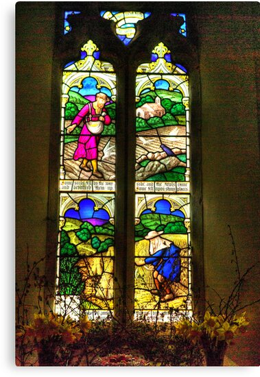 Window All Saints Church- Hawnby #4 by Trevor Kersley