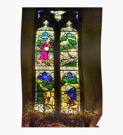 Window All Saints Church- Hawnby #4 Poster