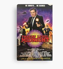 Geng Threat Level Midnight Poster Canvas Print