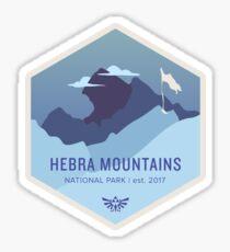 Pegatina Parque Nacional de las Montañas Hebra