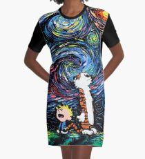 calvin hobbes Graphic T-Shirt Dress