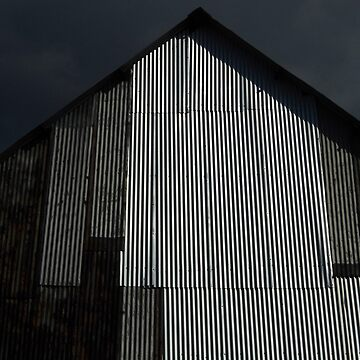 Moody Barn by WildestArt