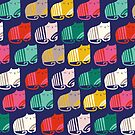 Multi coloured striped cats by ric-racuk