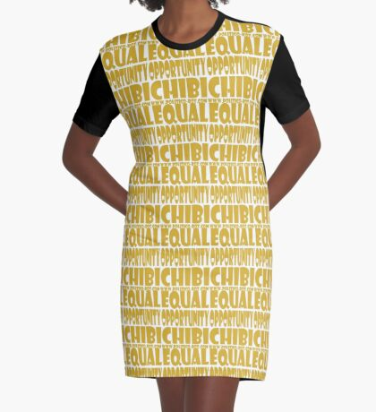 POLITICO'BOT: Equal Opportunity Chibi Graphic T-Shirt Dress