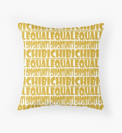 POLITICO'BOT: Equal Opportunity Chibi Throw Pillow