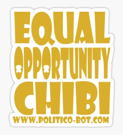 POLITICO'BOT: Equal Opportunity Chibi Sticker