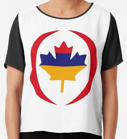 Armenian Canadian Multinational Patriot Flag Series Chiffon Top