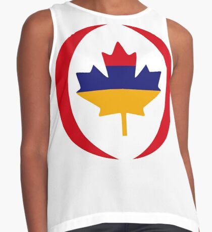 Armenian Canadian Multinational Patriot Flag Series Sleeveless Top