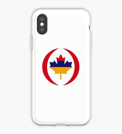 Armenian Canadian Multinational Patriot Flag Series iPhone Case