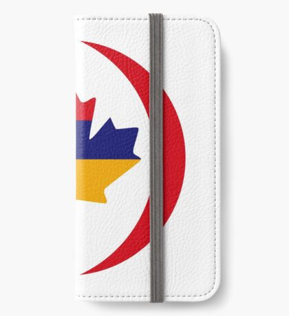 Armenian Canadian Multinational Patriot Flag Series iPhone Wallet