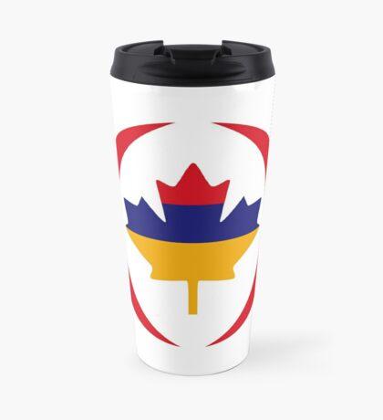 Armenian Canadian Multinational Patriot Flag Series Travel Mug