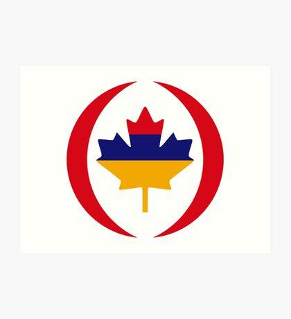 Armenian Canadian Multinational Patriot Flag Series Art Print