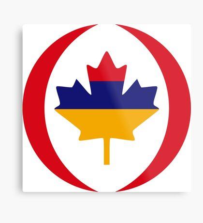 Armenian Canadian Multinational Patriot Flag Series Metal Print