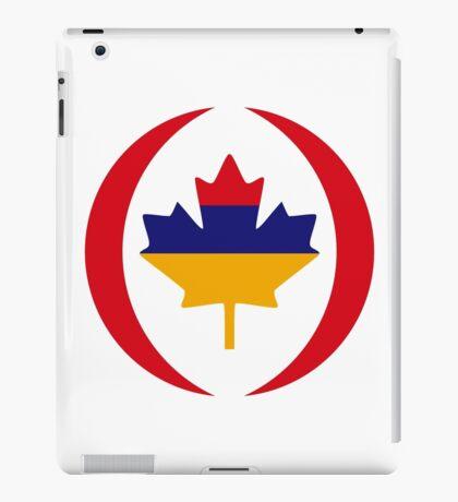 Armenian Canadian Multinational Patriot Flag Series iPad Case/Skin