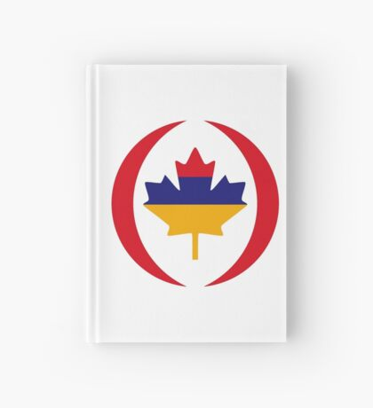 Armenian Canadian Multinational Patriot Flag Series Hardcover Journal