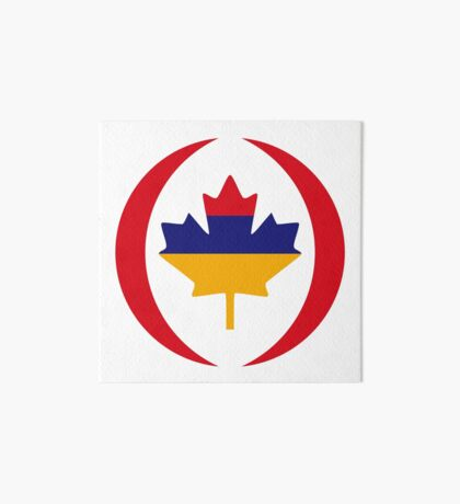 Armenian Canadian Multinational Patriot Flag Series Art Board Print