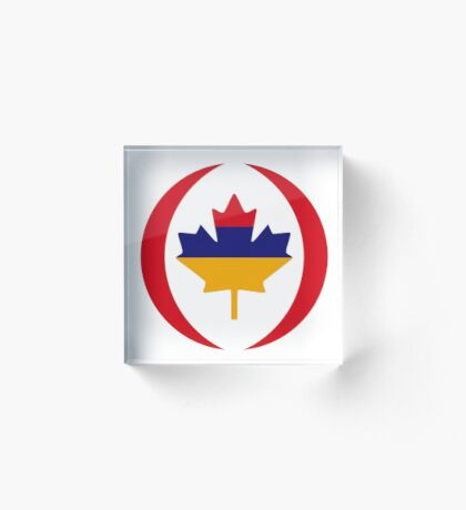 Armenian Canadian Multinational Patriot Flag Series Acrylic Block
