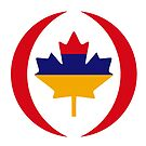 Armenian Canadian Multinational Patriot Flag Series by Carbon-Fibre Media
